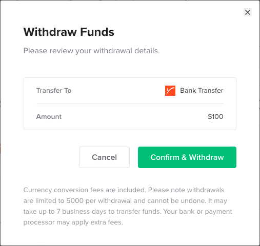 Withdrawing funds from Fiverr to Payoneer account